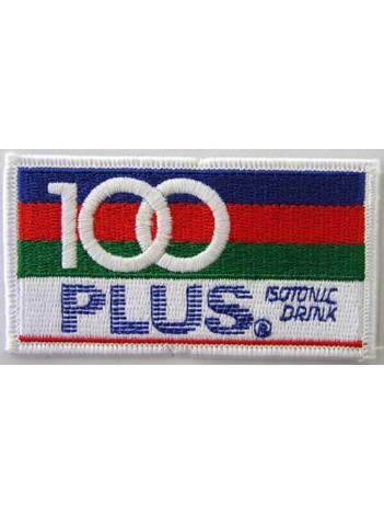 100 Plus Sports Soda Iron On Embroidered Patch