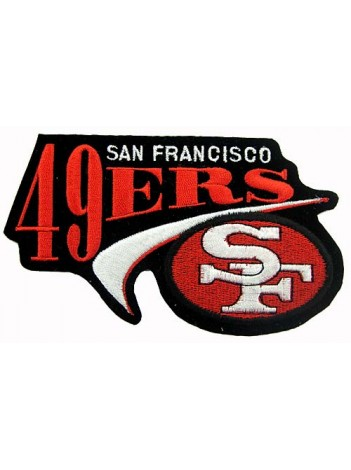 NFL 49ER SAN FRANCISCO FOOTBALL IRON ON EMBROIDERED PATCH #05
