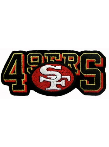 NFL 49er SAN FRANCISCO FOOTBALL IRON ON EMBROIDERED PATCH #06