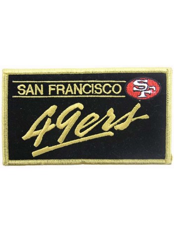 NFL 49er SAN FRANCISCO FOOTBALL IRON ON EMBROIDERED PATCH #08