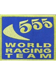555 WORLD RACING SPORT EMBROIDERED PATCH #01