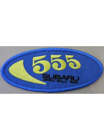 SUBARU 555 WORLD RALLY RACING EMBROIDERED PATCH