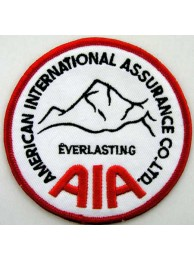 AIA INSURANCE IRON ON EMBROIDERED PATCH