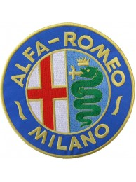 GIANT ALFA ROMEO AUTOMOBILE EMBROIDERED PATCH K1
