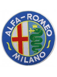 GIANT ALFA ROMEO AUTOMOBILE EMBROIDERED PATCH K2