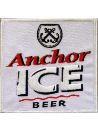 ANCHOR BEER IRON ON EMBROIDERED PATCH #01
