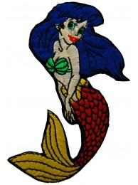 LITTLE MERMAID CARTOON COMIC EMBROIDERED PATCH
