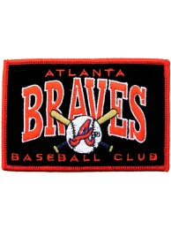 MLB ATLANTA BRAVES BASEBALL EMBROIDERED PATCH