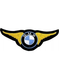 BMW WINGS BIKER RACING EMBROIDERED PATCH #09