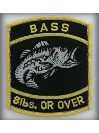 BASS - 8lbs. Or Over Gold