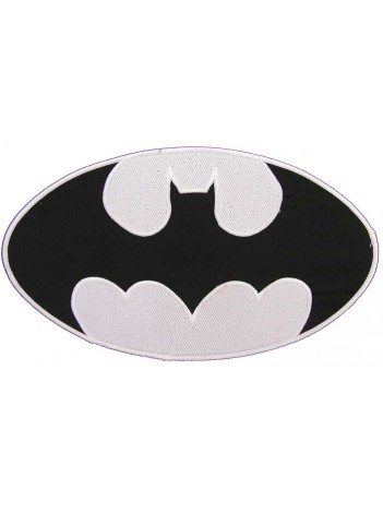 GIANT BATMAN CREST EMBROIDERED PATCH (P1)