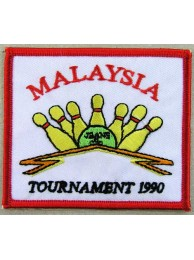 MALAYSIA BOWLING IRON ON EMBROIDERED PATCH #03