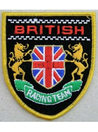 British Racing Team Embroidered Patch - Yellow