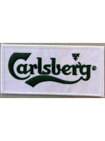 CARLSBERG BEER IRON ON EMBROIDERED PATCH #01