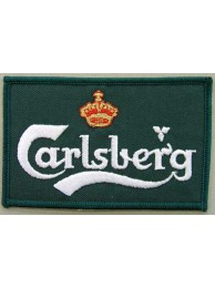 CARLSBERG BEER IRON ON EMBROIDERED PATCH #05