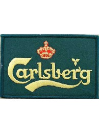 CARLSBERG BEER IRON ON EMBROIDERED PATCH #04