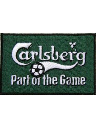 CARLSBERG BEER IRON ON EMBROIDERED PATCH #09