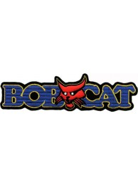 BOBCAT TRACTOR LOGO EMBROIDERED PATCH #08