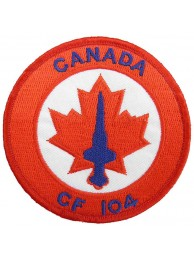 CANADA AIRFORCE CF 104 STARFIGHTER PATCH #01