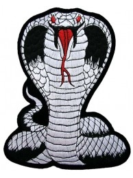 GIANT COBRA BIKER EMBROIDERED PATCH (K1)