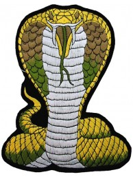 GIANT COBRA BIKER EMBROIDERED PATCH (K2)
