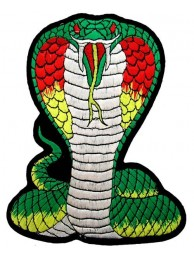 GIANT COBRA BIKER EMBROIDERED PATCH (K3)