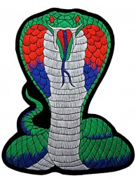 GIANT COBRA BIKER EMBROIDERED PATCH (K4)