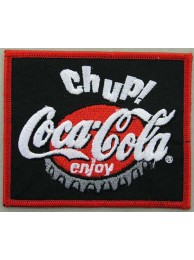 COCA COLA IRON ON EMBROIDERED PATCH