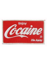 COCAINE PUNK & ROCK EMBROIDERED PATCH #02