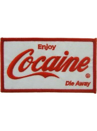 COCAINE PUNK & ROCK EMBROIDERED PATCH #03
