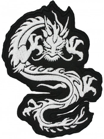 DRAGON MARTIAL ARTS TATTOO EMBOIDERED PATCH #10