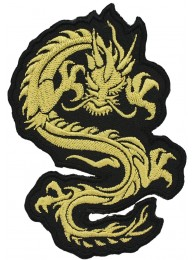 DRAGON MARTIAL ARTS TATTOO EMBOIDERED PATCH #11
