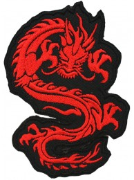 DRAGON MARTIAL ARTS TATTOO EMBOIDERED PATCH #12