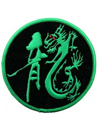 DRAGON MARTIAL ARTS TATTOO EMBOIDERED PATCH #02