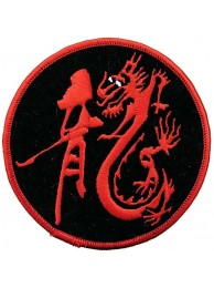 DRAGON MARTIAL ARTS TATTOO EMBOIDERED PATCH #06