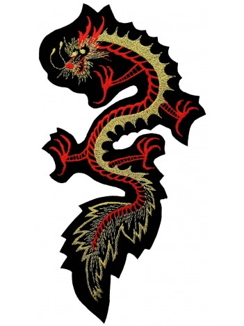 GIANT DRAGON FLYING EMBROIDERED PATCH (K1)