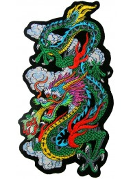 GIANT DRAGON TATOO EMBROIDERED PATCH (XL)