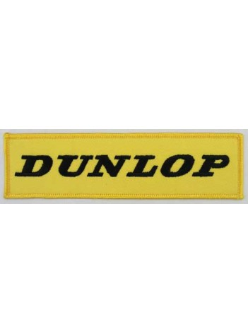 DUNLOP TIRE TYRE EMBROIDERED PATCH #10