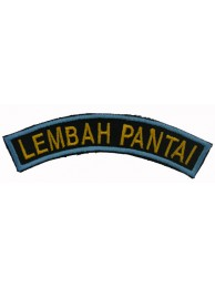 BSM DISTRICT STRIPS - LEMBAH PANTAI EMBROIDERD PATCH