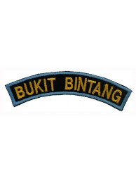 BSM DISTRICT STRIPS - BUKIT BINTANG EMBROIDERD PATCH