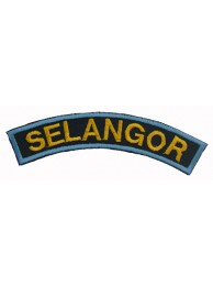 BSM DISTRICT STRIPS - SELANGOR EMBROIDERD PATCH