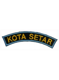 BSM DISTRICT STRIPS - KOTA SETAR EMBROIDERD PATCH