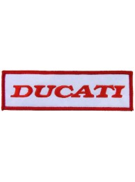 DUCATI BIKER IRON ON EMBROIDERD PATCH #02