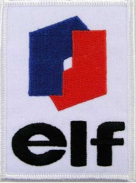 ELF OIL MOTOR RACE RACING EMBROIDERED PATCH #01
