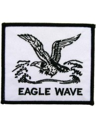 EAGLE WAVE FISHING EMBROIDERED PATCH #01