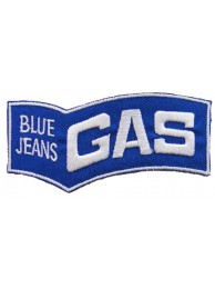 BLUE JEANS GAS F1 RACING EMBROIDERED PATCH #01