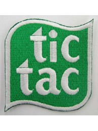 TIC TAC IRON ON EMBROIDERED PATCH