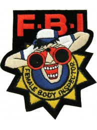 FBI FEMALE BODY INSPECTOR PUNK & ROCK PATCH #01
