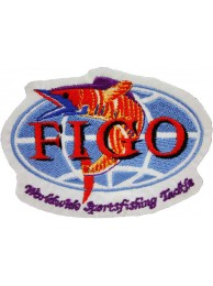 FIGO WORLDWIDE SPORTS FISHING SPORTS TACKLE EMBROIDERED PATCH #03