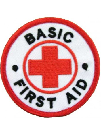 BASIC FIRST AID AMBULANCE IRON ON EMBROIDERED PATCH